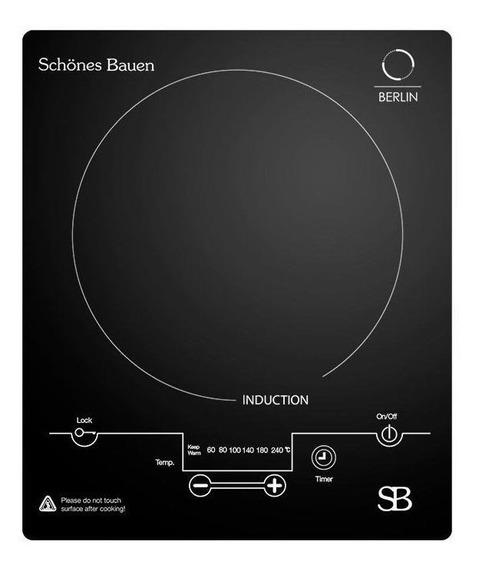 Parrilla eléctrica Schönes Bauen Berlin negro 110V