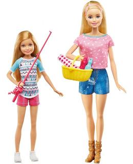 Muñecas Barbie Y Stacie Diversión De Campamento-2016