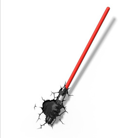 Luminária 3d Star Wars - Darth Vader - Mão Com Sabre De Luz