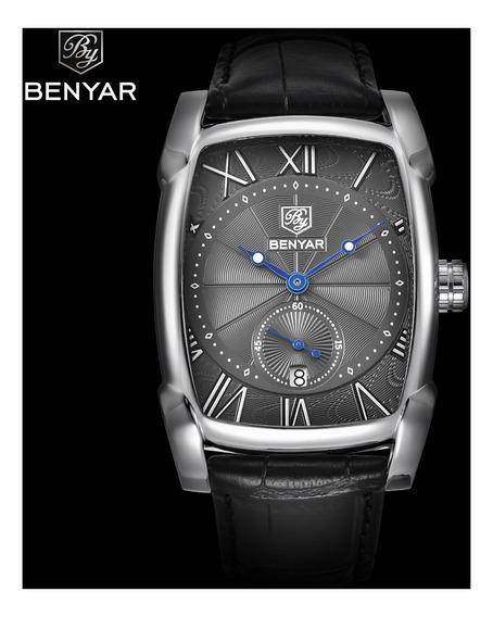 Relógio Retangular Benyar By5114 - Loja Oficial - Brasil