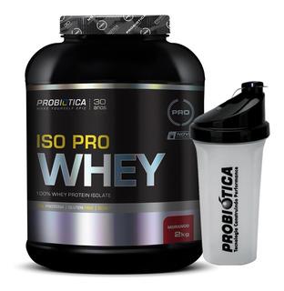 Iso Pro Whey 2kg Probiótica - Isolado 2000 G Pote - Promoção