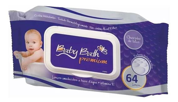 Lenços Umedecidos - 64 Unidades - Premium - Baby Bath