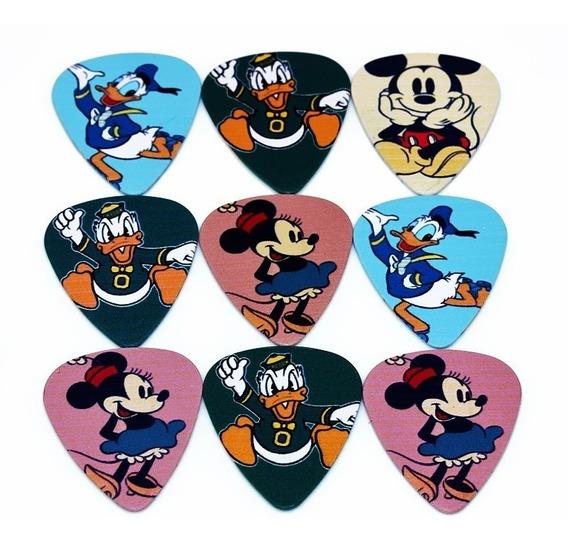 10 Palhetas Disney Dupla Face Personalizadas Violão Guitarra