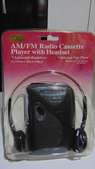 Walkman (rádio Am-fm+fita K7) *tozaj Atc-468. Novo! Lacrado!