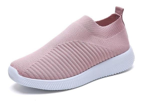 Mulheres Verão Sapatos Leves Malha Respirável Sapatos Casu