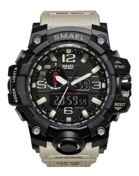Reloj Militar Smael 1545 Shocktáctico 50m Sumergible