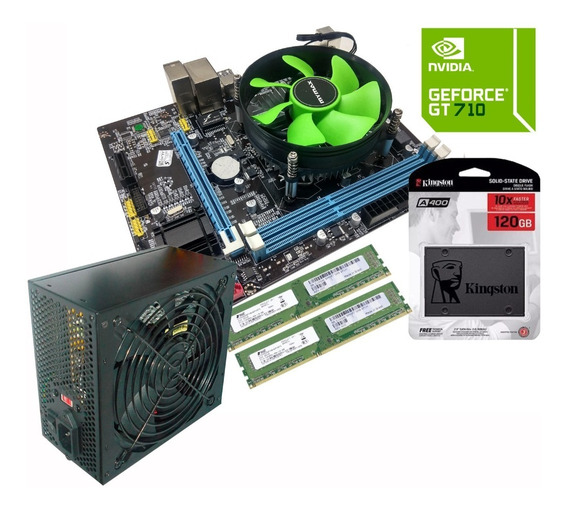 Kit Gamer Core I5 8gb Ssd 120gb Placa Vídeo 2gb Fonte Real