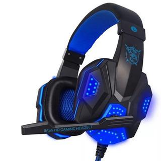 Audifonos Gamer Con Led Azul