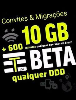 Tim Convite 10gb E 600 Min Envio Imediato Para Seu Whatsapp