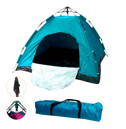 Imagem 1 de 4 de Barraca Camping 4 Pessoas Monta Sozinha Automática Dobrável