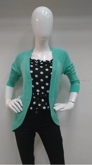 Bonito Suéter Turquesa Para Dama