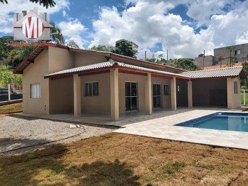 Linda Chácara Com 03 Dormitórios, Piscina, Espaço Gourmet, Campinho, À Venda, 800 M² Por R$ 380.000 - Zona Rural - Pinhalzinho/sp - Ch0803