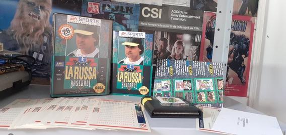 Tony La Russa Baseball - Sega Genesis - Com Todos Os Cards