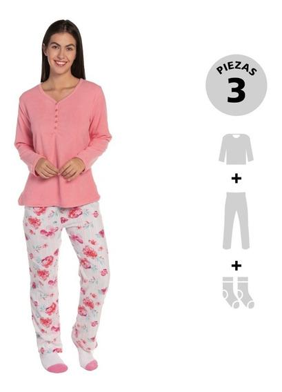 Pijama 3 Pzas: Top, Pantalón Y Calcetas Thats Hot Bhi191802