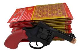 Revolver Espoleta Brinquedo + 3 Cartelas De Espoleta