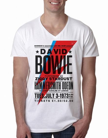 Remera Bowie Ziggy Aladdin Rayo 1 Rock Hombre Purple Chick