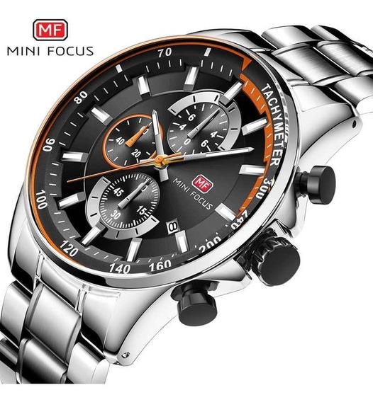 Relógio Masculino Pata Minifocus 0218g Aço 100% Funcional
