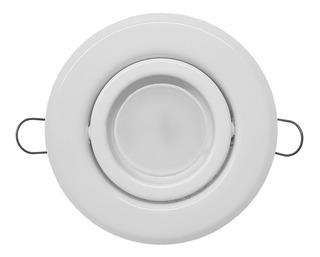 Spot Embutir Con Lampara Dicroica Led 7w 220v Blanco