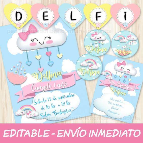 Kit Imprimible Lluvia De Amor Con Candy Bar 100% Editable
