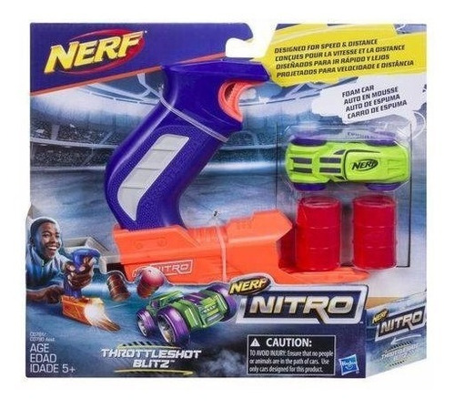 Imagem 1 de 3 de Brinquedo Nerf Nitro Throttleshot Lançador De Carro C0780