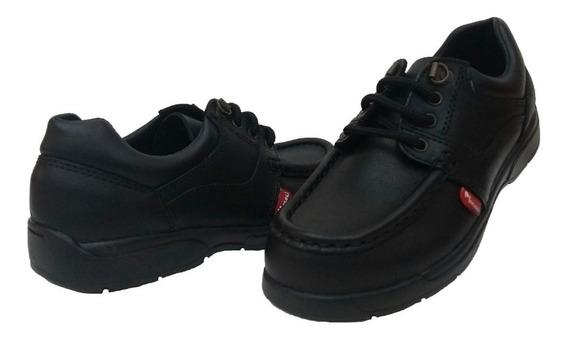 Zapato Colegial Cuero Inyectado Cordon Marcel Art 343 N Pr