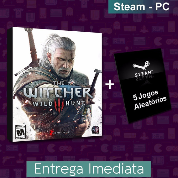 The Witcher 3 + 5 Jogos Steam Aleatórios - Pc Game