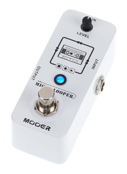 Pedal Mooer Micro Looper Guitarra - Loop Gravação -mlp1