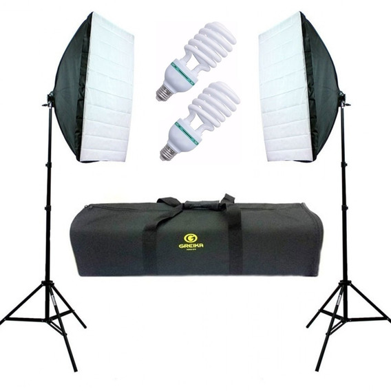 Kit Estúdio Tripé Softbox 50x70 270w 110v C Grid