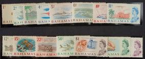 Bahamas 1966 Série Rainha Elizabeth Ii Postal Sea Floor