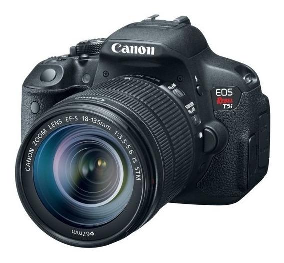 Camera Canon T5i + Lente 18-55mm + Bateria + Bolsa E Acessór