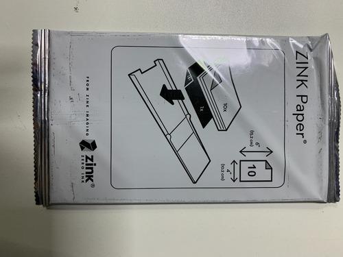 Papel Fotográfico Zink Paper 6x4 (15,2x10,2cm) 10 Folhas