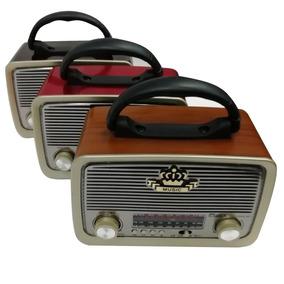 Radio Portatil Fm Am Micro Pendrive Bateria Retro Barato Nf