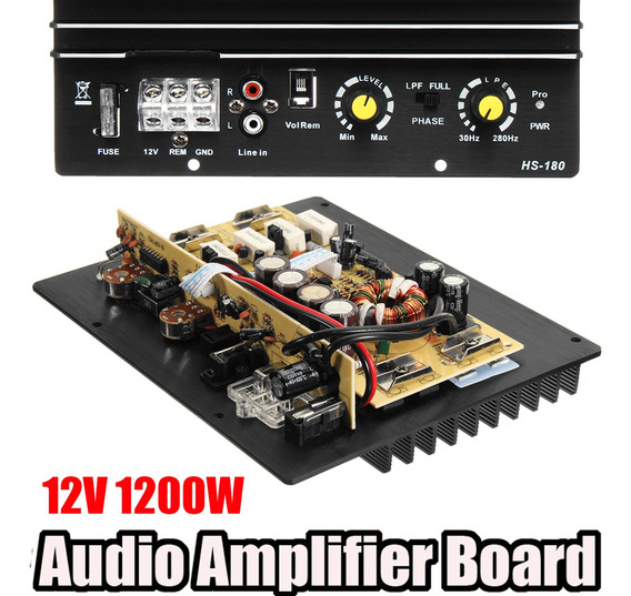 Claite Dc 12 V 120 W Amplificador De Áudio Do Carro Placa Co