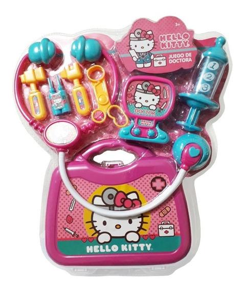 Juguete Juego De Doctora Con Maletin Hello Kitty