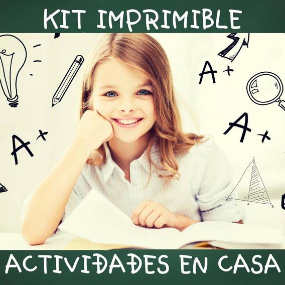 Kit Imprimible Actividades Niños En Casa Cuarentena !! 2020