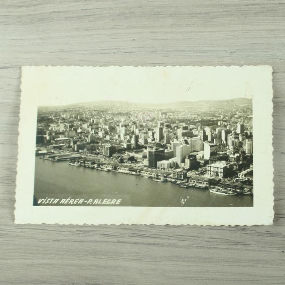 Cartão Postal Com A Vista Da Cidade De Porto Alegre Anos 50
