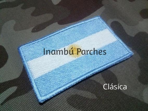 Parche Bandera Argentina C/abrojo Táctica Bordado