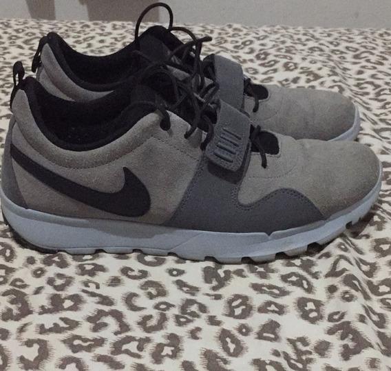 Tenis Nike Sb Trainerendor Leather Cinza