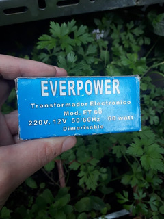 Transformador Electrónico Everpower 12v-50w 220-240v