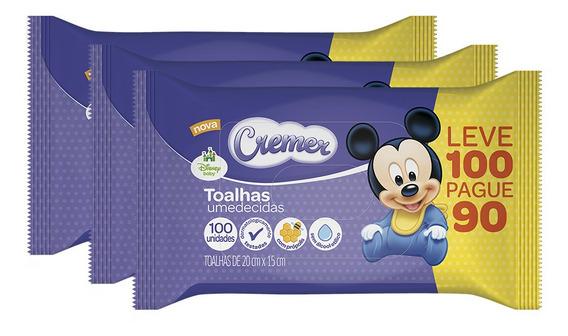Kit De Lenço Umedecido Cremer Disney - 250 Unidades