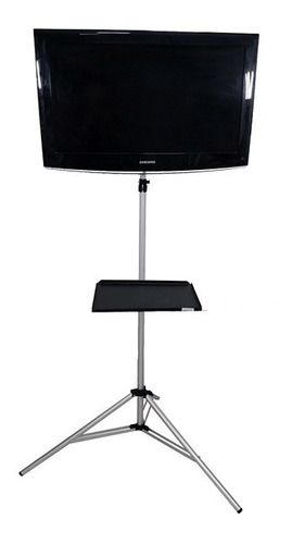 Pedestal Tripé Tv 50 Chao Lcd P/ Monitor Notebook Suporte G
