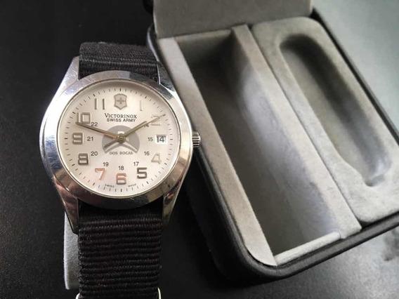 Reloj Original Victorinox Hombre Acero Y Tela Envío Gratis!