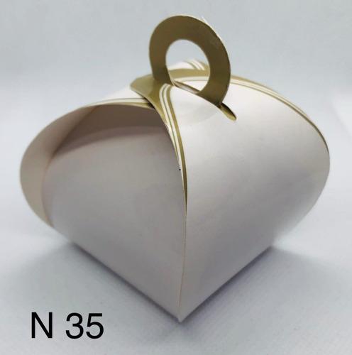 Imagem 1 de 11 de 60 Caixinhas Para Bem Casado Lembrancinha Francesinha Ouro