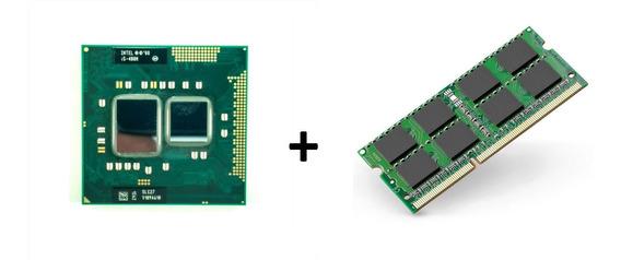 Processador I5 2.66ghz Pga989 + Memória 4g Ddr3 P/ Notebook
