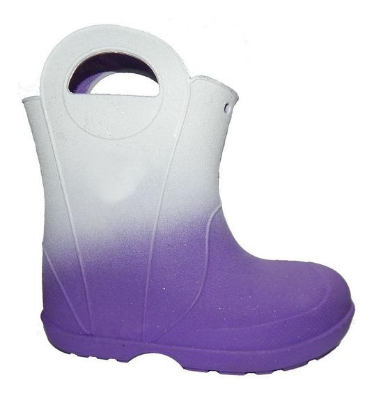 Bota Lluvia Nieve De Niños Impermeables - Jeans710