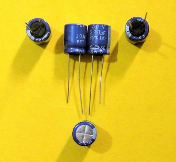 Kit Com 50 Capacitor Eletrolitico 220x50v 85°