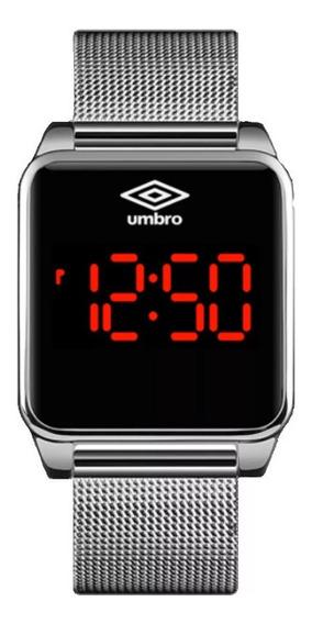 Relógio De Pulso Umbro Umb-051-s Led Touch Prata Garantia Nf