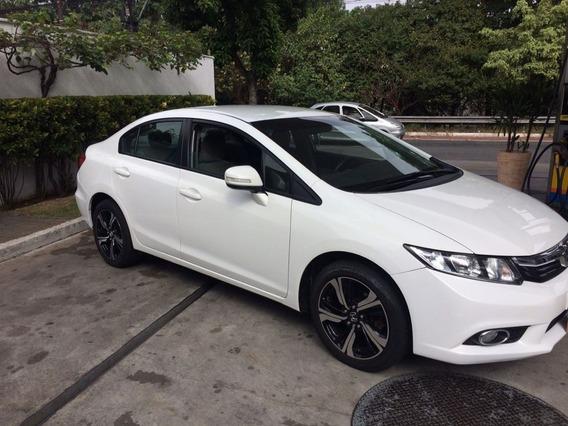 Honda Civic 2.0 Lxr Flex Aut. 4p Branco Estado De Novo