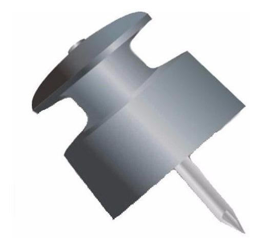 Isolador Roldana 30mm C/ Prego Cerca Fio Pacote Com 50 Peças