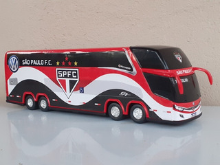 Miniatura Ônibus 4 Eixos Time São Paulo Spfc Frete Grátis